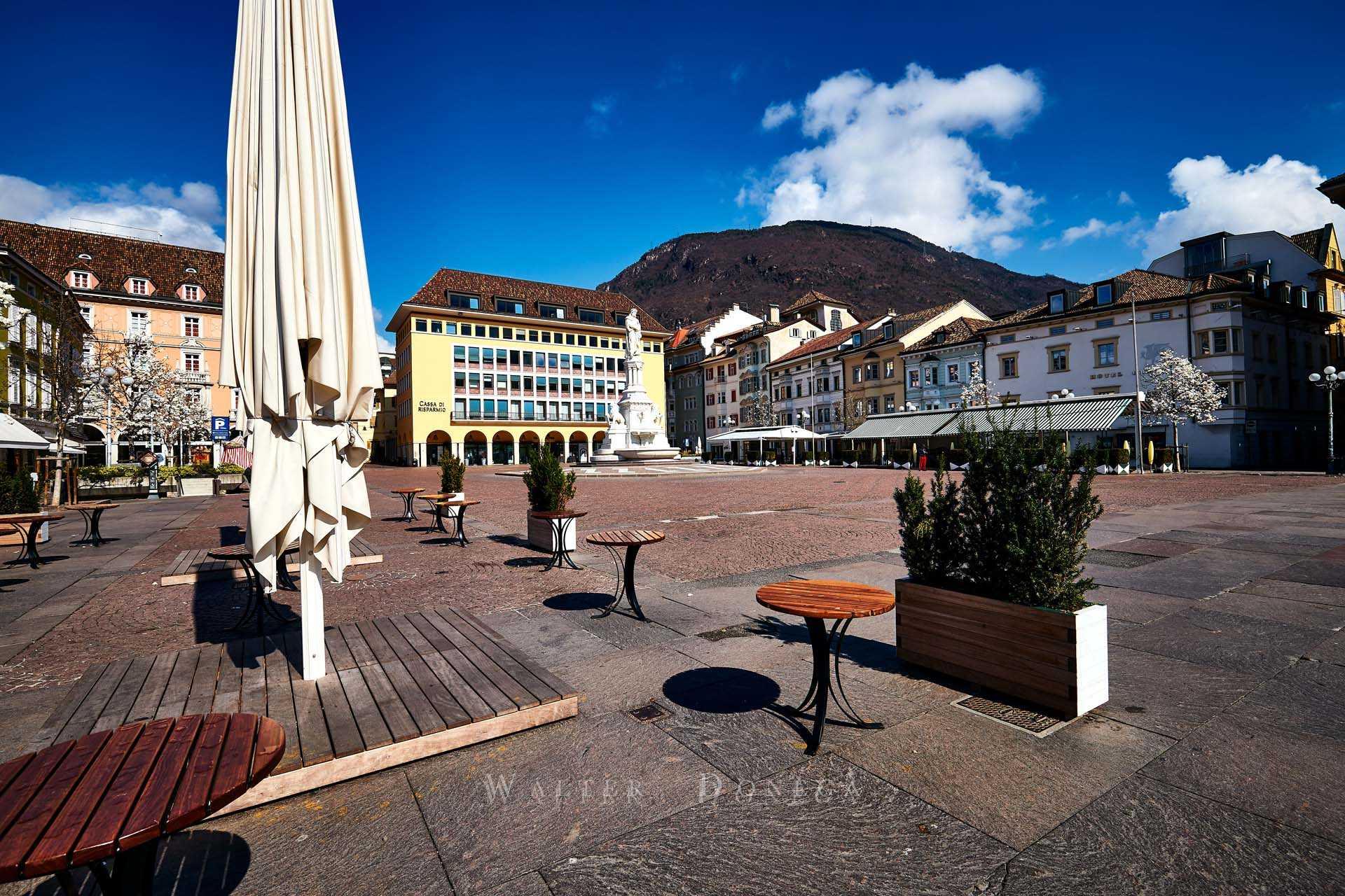 Bolzano deserta in quarantena